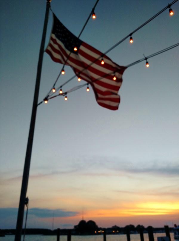 Sunset on the dock on Shalavee.com