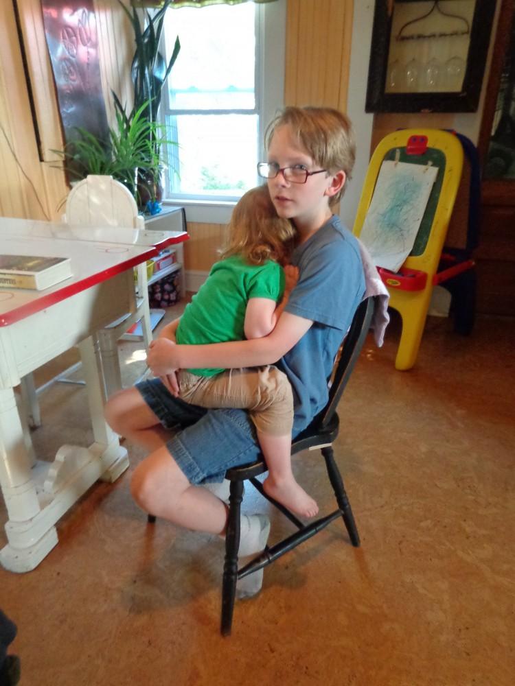 Fiona on Eamon's lap on Shalavee.com