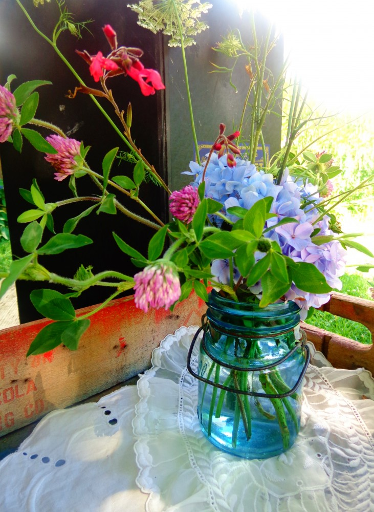 flowers in the crate on Shalavee.com