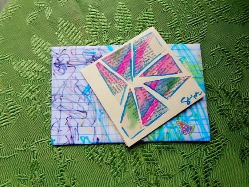 Caitlin's collage card on Shalavee.com