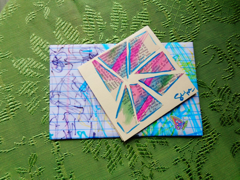 Caitlin's collage card on Shalavee.com