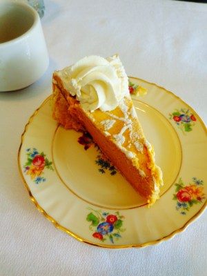 pumpkin chiffon pie at Turnbridge point on Shalavee.com