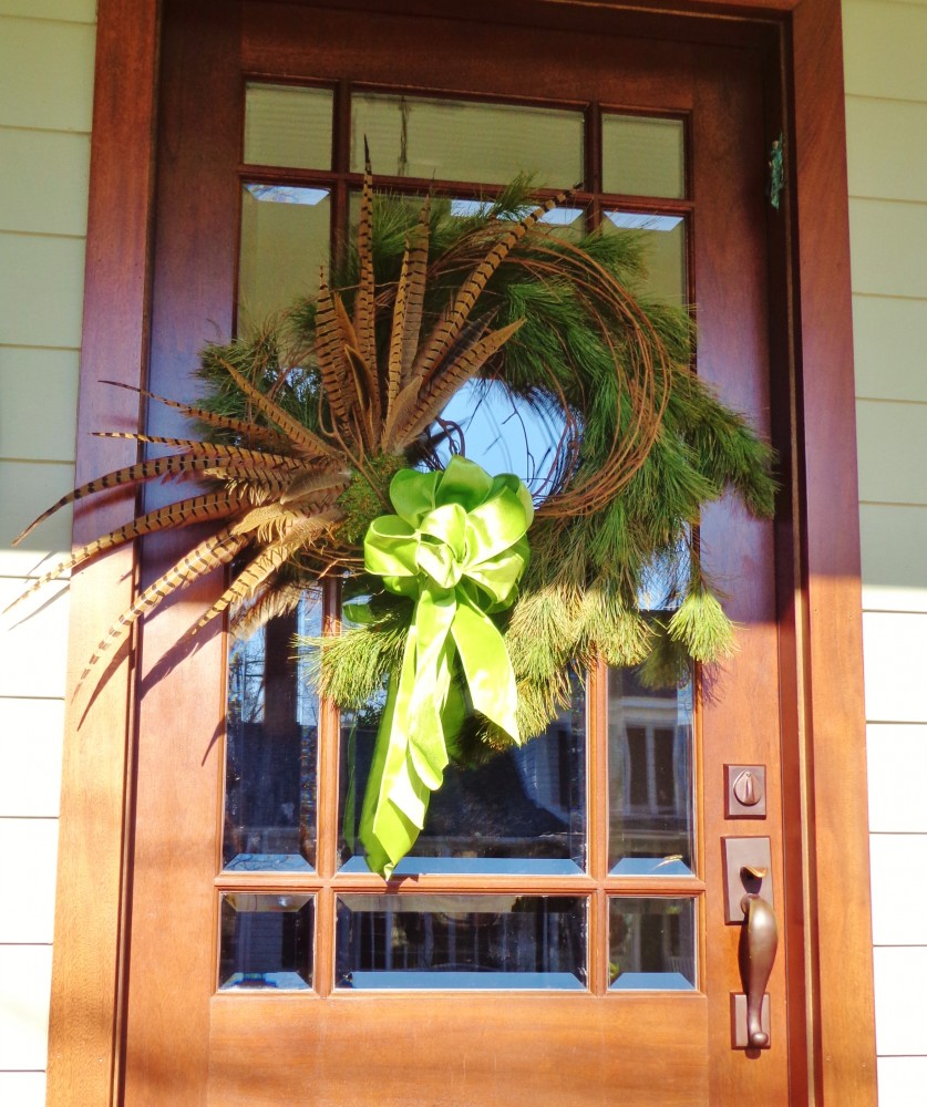 front doorh wreath on Shalavee.com