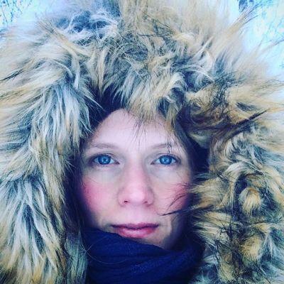 Anna in her coat