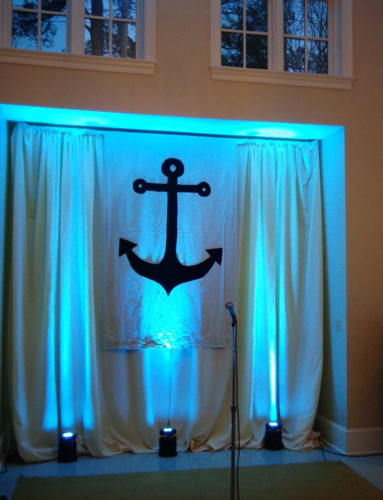 Anchor on curtain and windows on Shalavee.com