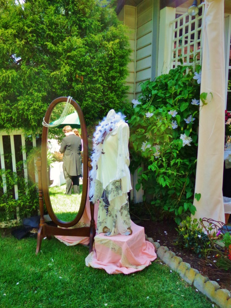 Dress dummy and mirror for the garden party at shalavee.com