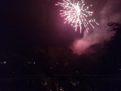 fireworks over the creek on Shalavee.com