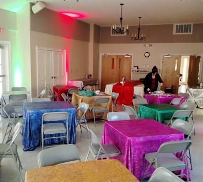 Set up for trivia fundraiser on Shalavee.com