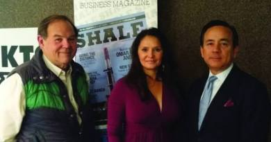 SHALE Magazine's Kym Bolado, Texas Senator Carlos Uresti and Roy Holley KTSA