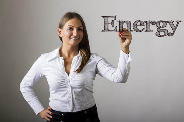 Young Women in Energy - Beautiful Girl Writing On Transparent Surface