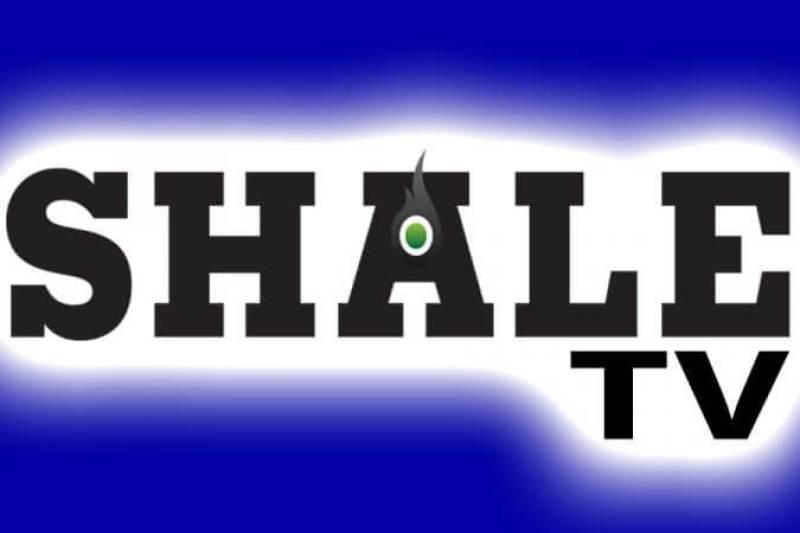 SHALE TV Logo Mic Flag Blue