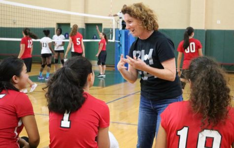 New coach brings schemes, positions and long hours to volleyball team