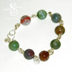Indian Agate Beads Bracelet 3
