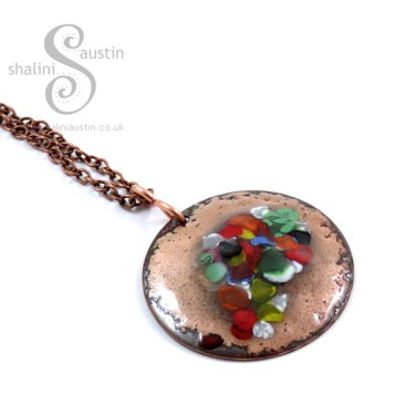 Enamelling Copper Part 2 - 'Tutti-Frutti' Enamelled Copper Pendant
