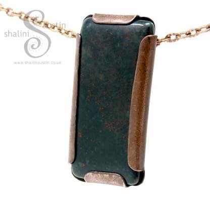Rock Pendant - Bloodstone Set in Copper