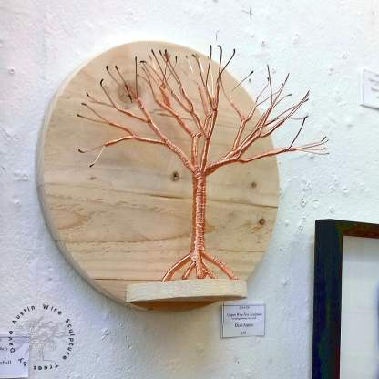 Copper Wire Tree on Salvaged Pallet Shelf by Dave Austin