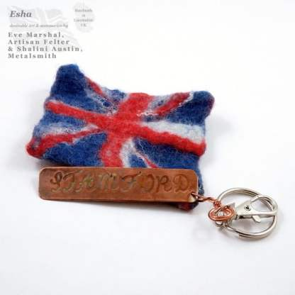 Handmade to Order by Esha - UK FLAG Keyring