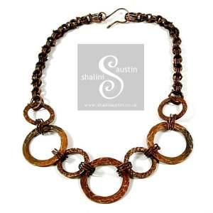 Copper Circles Necklace 02