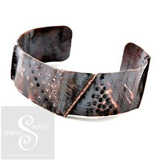 One-Off Wearable Copper Art Cuff Bracelet 09