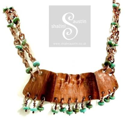 Turquoise & Copper Necklace LADAKH
