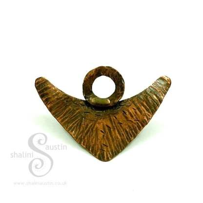 Handcrafted Accessories - Copper Brooch ANGEL WINGS