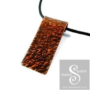 Textured Copper Pendant