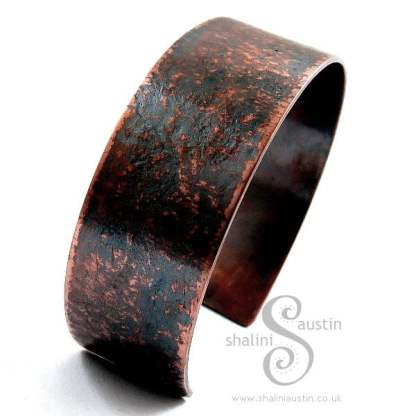 'Handmade Paper' Embossed Copper Cuff