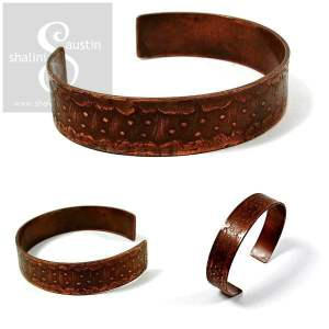 'Dots' Etched Copper Cuff