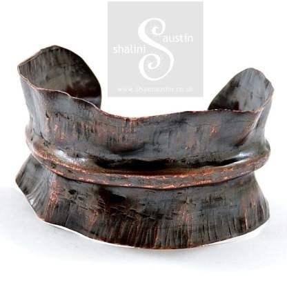 Fold Formed Copper Cuff 08