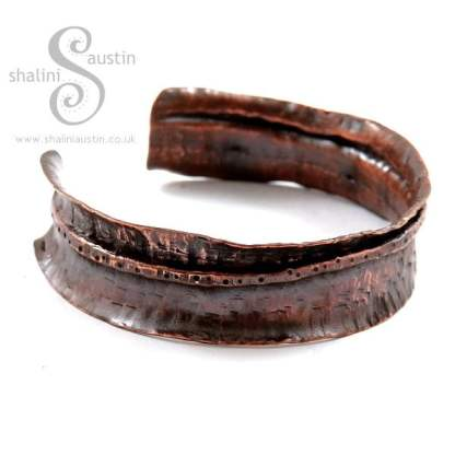 One-Off Fold Formed Copper Cuff 17