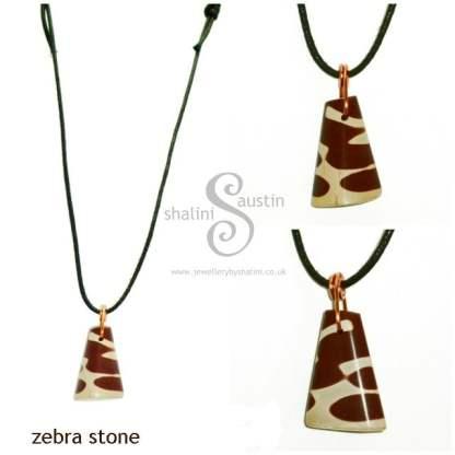 Zebra Stone Pendant