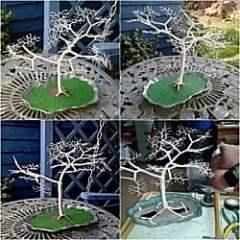 Wire Sculpture Bonsai style Tree