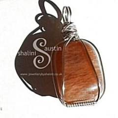 Sterling Silver Wire Cage Pendant