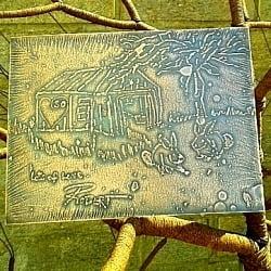 Etched Copper Plaque