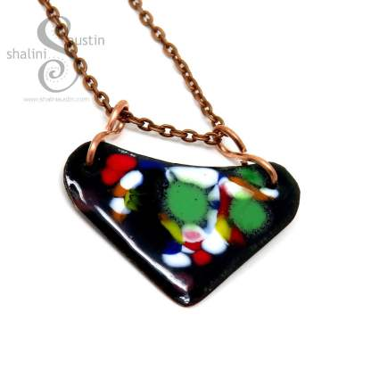 Bright and Beautiful Enamelled Pendant