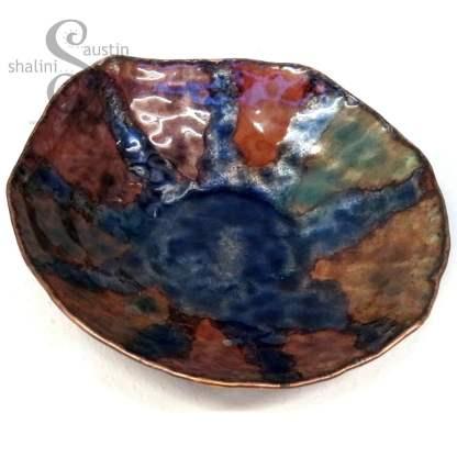 Enamelled Copper Bowl BY THE SEASIDE