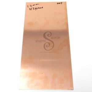 Copper Sheet Offcut 1.2mm (005) | 18 gauge SWG | 300 x 145 mm