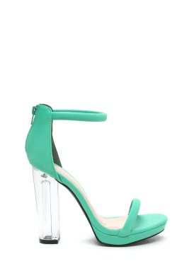 Go Jane - Beyond Clear Chunky Lucite Heels