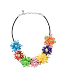 Moschino - Metal and Lucite Floral Necklace