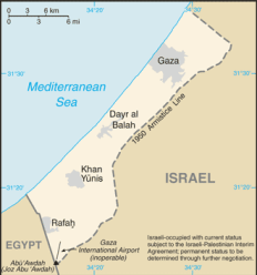 Egypt borders Gaza and blockades