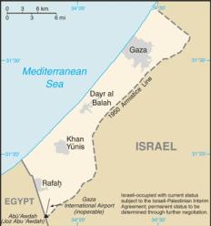 Egypt borders Gaza and blockades