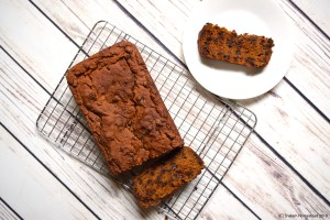 Chocolate chip pumpkin bread #vegan #glutenfree #oilfree
