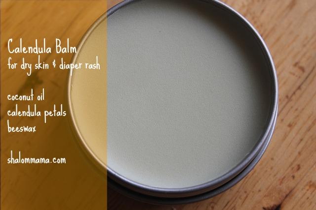 Calendula Balm for Dry Skin and Diaper Rash