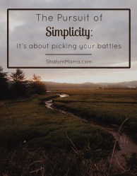 The Pursuit of Simplicity: It's about picking your battles