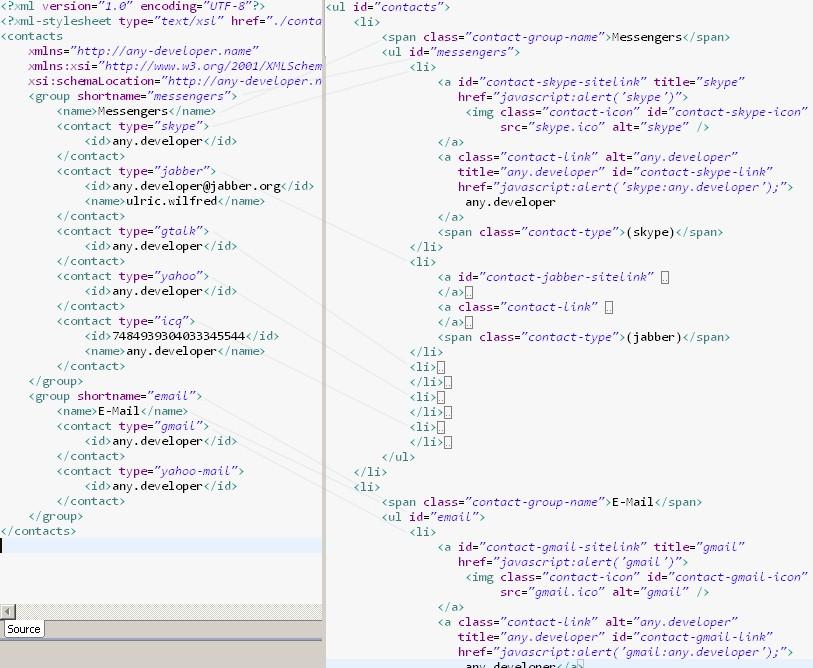 XML Rendering Result