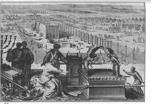 An old drawing that depicts the Ark.