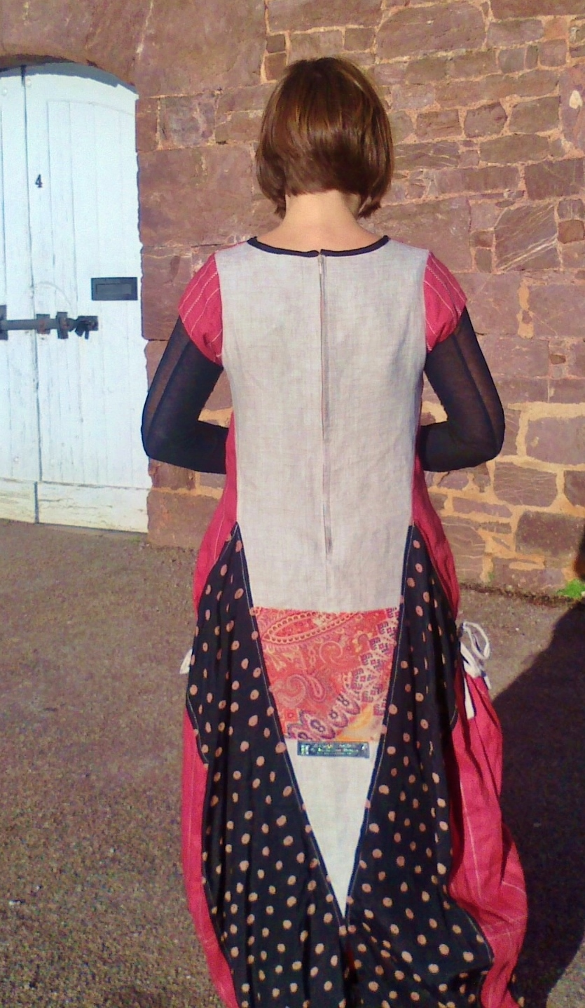 Back view of Red Hopi dress