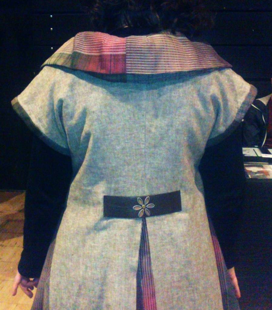 Laura in Jerkin Mulberry Walnut back collar and tab