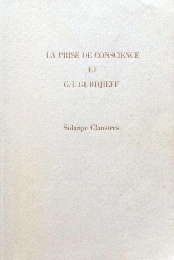 book La prise de conscience et Gurdjieff