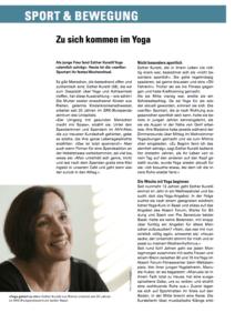 Presseartikel Thema Yogakurs Senioren Magazin Akzent Forum